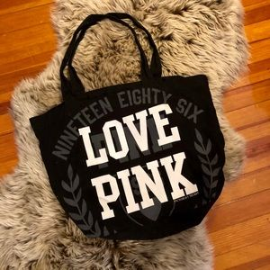 ✨Black & White VS Pink Cotton Tote Bag in GUC